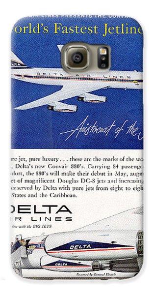 1960s Delta Convair 880 Ad Galaxy S6 Case