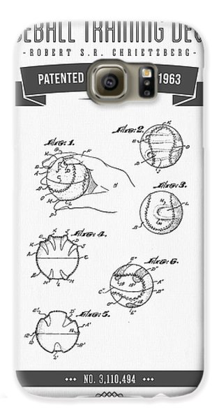 1963 Baseball Training Device Patent Drawing Galaxy S6 Case by Aged Pixel