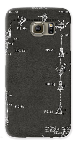 1963 Space Capsule Patent Gray Galaxy S6 Case by Nikki Marie Smith