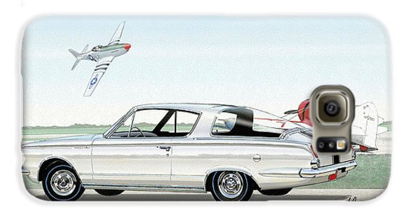 1965 Barracuda  Classic Plymouth Muscle Car Galaxy S6 Case by John Samsen