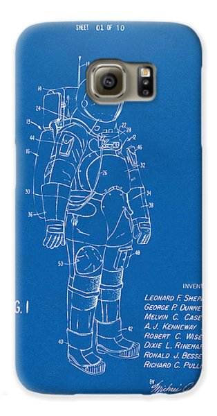 Space Ships Galaxy S6 Case - 1973 Space Suit Patent Inventors Artwork - Blueprint by Nikki Marie Smith