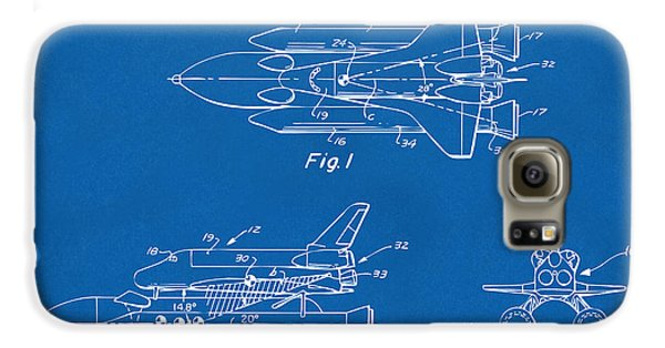 Space Ships Galaxy S6 Case - 1975 Space Shuttle Patent - Blueprint by Nikki Marie Smith