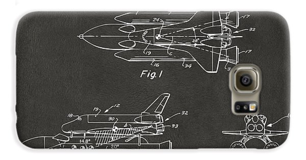 Space Ships Galaxy S6 Case - 1975 Space Shuttle Patent - Gray by Nikki Marie Smith