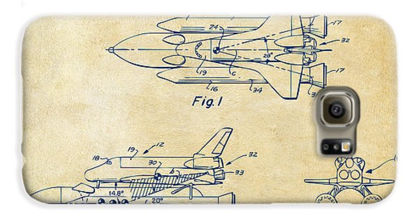 Space Ships Galaxy S6 Case - 1975 Space Shuttle Patent - Vintage by Nikki Marie Smith