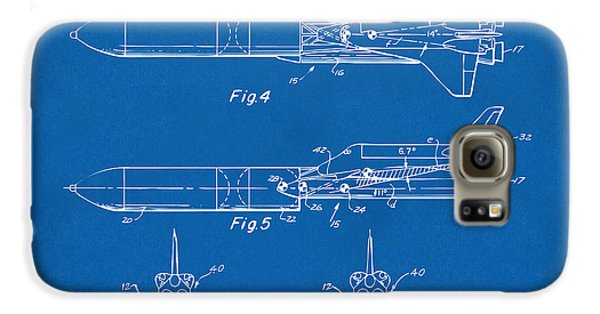 1975 Space Vehicle Patent - Blueprint Galaxy S6 Case by Nikki Marie Smith
