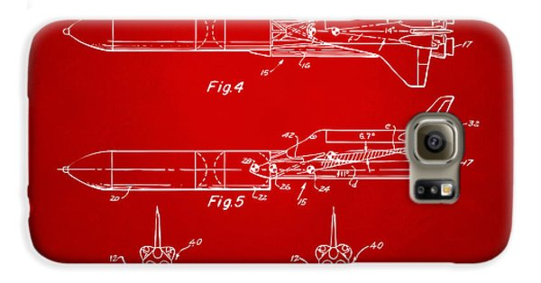 1975 Space Vehicle Patent - Red Galaxy S6 Case by Nikki Marie Smith