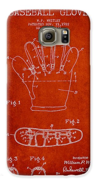 Baseball Glove Patent Drawing From 1922 Galaxy S6 Case