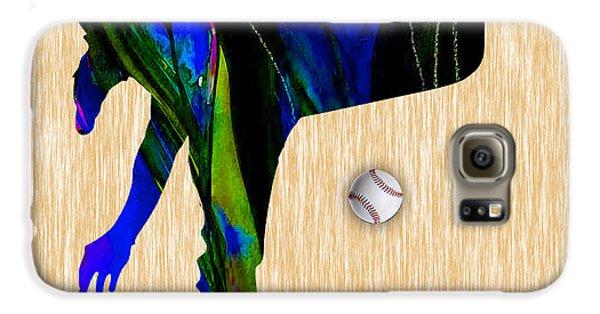 Baseball Pitcher Galaxy S6 Case