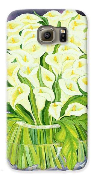 Lily Galaxy S6 Case - Calla Lilies by Laila Shawa