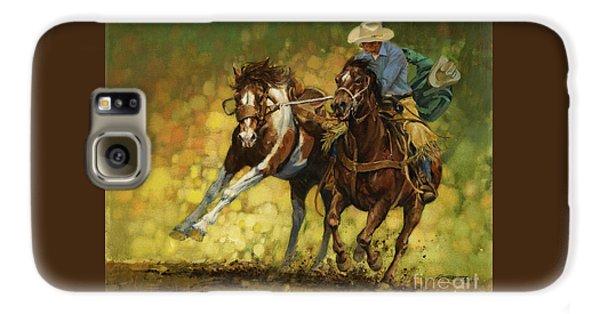 Horse Galaxy S6 Case - Rodeo Pickup by Don  Langeneckert