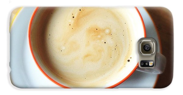 Orange Galaxy S6 Case - Cup Of Coffee by Matthias Hauser