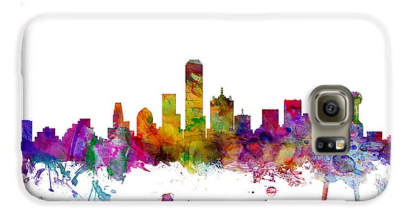 Dallas Texas Skyline Galaxy S6 Case by Michael Tompsett