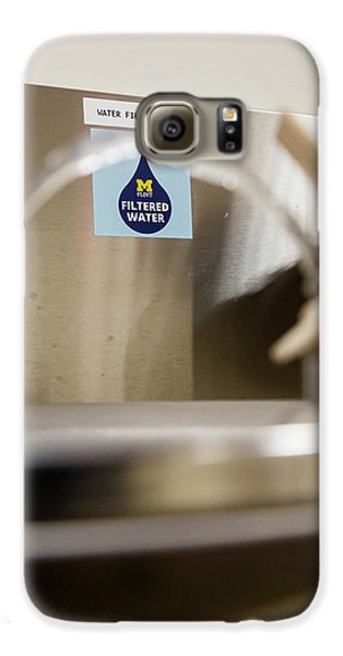 Drinking Water Filtration Sign Galaxy S6 Case by Jim West