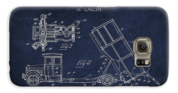 Dump Truck Patent Drawing From 1934 Galaxy S6 Case by Aged Pixel