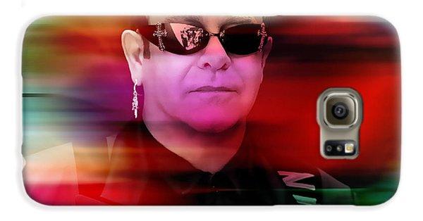 Elton John Galaxy S6 Case by Marvin Blaine