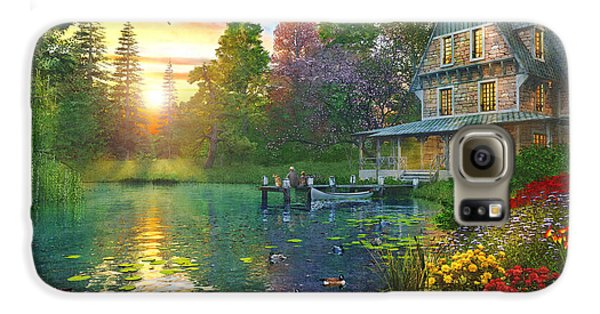Goose Galaxy S6 Case - Fishing At Sunset by Dominic Davison
