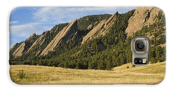 Flatirons With Golden Grass Boulder Colorado Galaxy S6 Case by James BO  Insogna