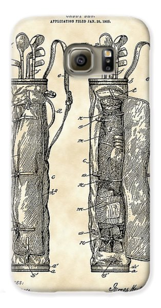 Golf Bag Patent 1905 - Vintage Galaxy S6 Case by Stephen Younts