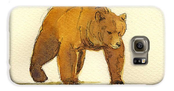 Grizzly Bear Galaxy S6 Case - Grizzly Bear by Juan  Bosco