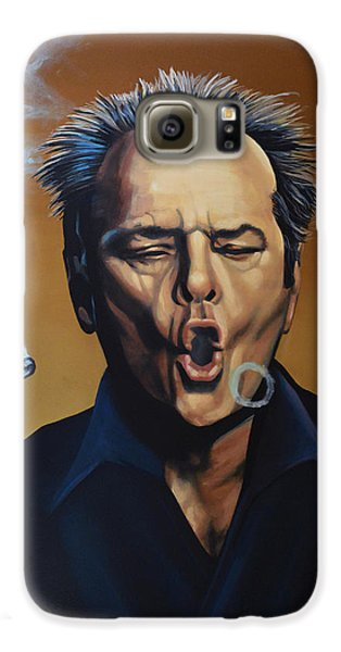 Cuckoo Galaxy S6 Case - Jack Nicholson Painting by Paul Meijering
