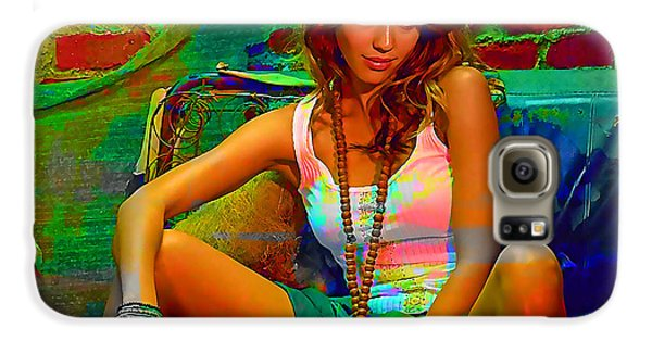Jessica Alba Galaxy S6 Case by Marvin Blaine