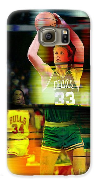 Larry Bird Galaxy S6 Case by Marvin Blaine