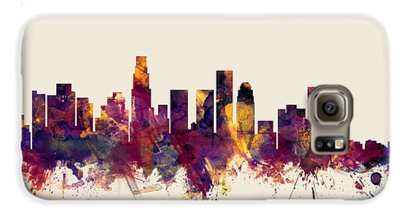 Los Angeles California Skyline Galaxy S6 Case by Michael Tompsett