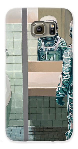 Space Galaxy S6 Case - Men's Room by Scott Listfield