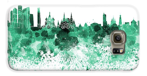 Moscow Skyline White Background Galaxy S6 Case