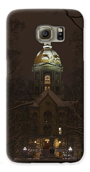 Notre Dame Golden Dome Snow Galaxy S6 Case