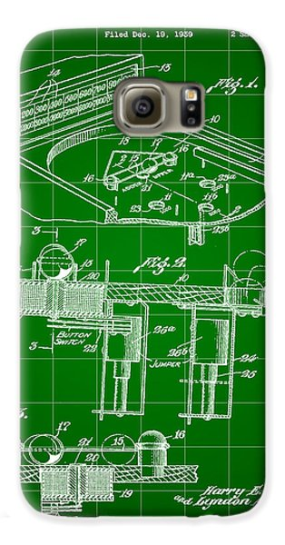 Pinball Machine Patent 1939 - Green Galaxy S6 Case by Stephen Younts