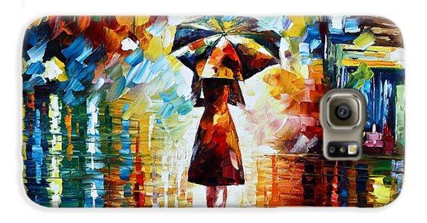 Town Galaxy S6 Case - Rain Princess - Palette Knife Landscape Oil Painting On Canvas By Leonid Afremov by Leonid Afremov