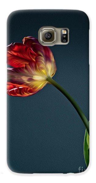 Tulip Galaxy S6 Case - Red Tulip by Nailia Schwarz