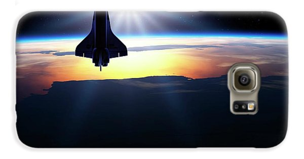 Space Shuttle In Orbit Galaxy S6 Case by Detlev Van Ravenswaay