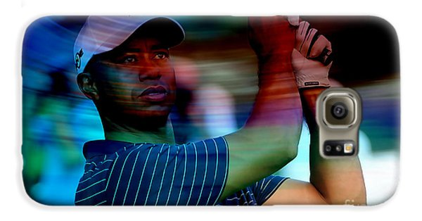 Tiger Woods Galaxy S6 Case by Marvin Blaine