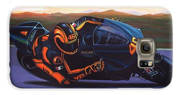 Doctor Galaxy S6 Case - Valentino Rossi On Ducati by Paul Meijering