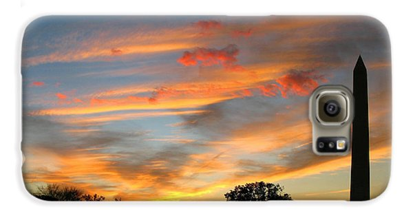 Washington Monument Galaxy S6 Case - Evening Washington Monument by Olivier Le Queinec