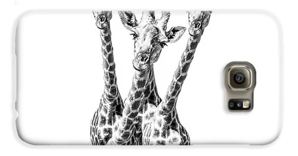 Giraffe Galaxy S6 Case - What Are You Looking At?  by Diane Diederich