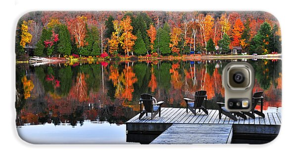 Wooden Dock On Autumn Lake Galaxy S6 Case