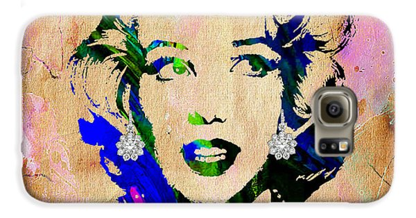 Marilyn Monroe Diamond Earring Collection Galaxy S6 Case by Marvin Blaine