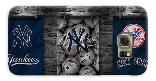 Professional Baseball Teams Galaxy S6 Case - New York Yankees by Joe Hamilton