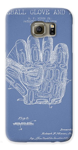 Baseball Gloves Galaxy S6 Case - Baseball Glove Patent Drawing From 1924 by Aged Pixel