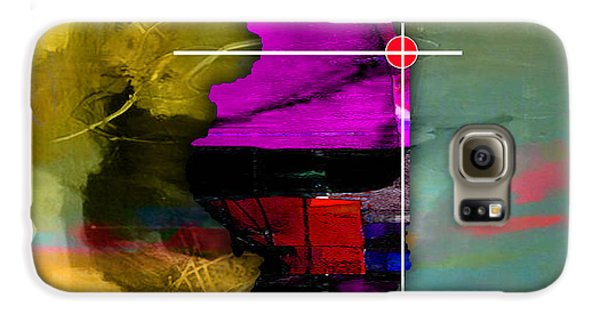 Chicago Illinois Map Watercolor Galaxy S6 Case