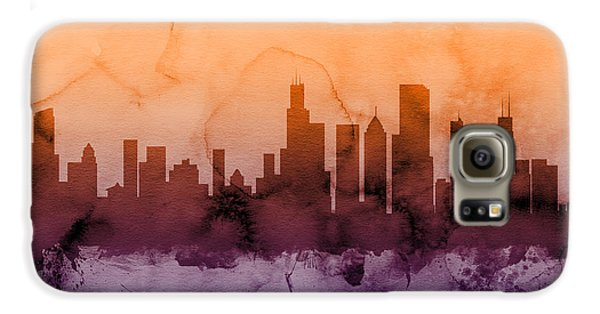 Chicago Galaxy S6 Case - Chicago Illinois Skyline by Michael Tompsett