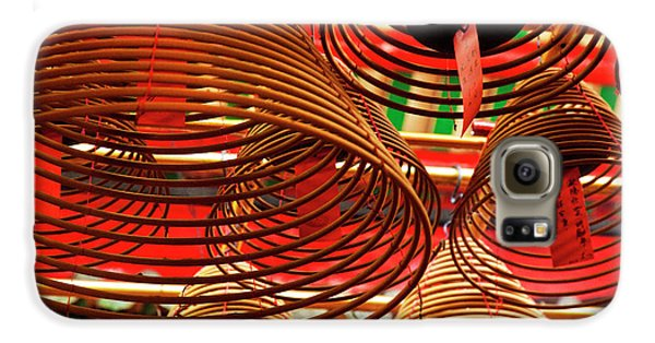 China, Hong Kong, Spiral Incense Sticks Galaxy S6 Case by Terry Eggers