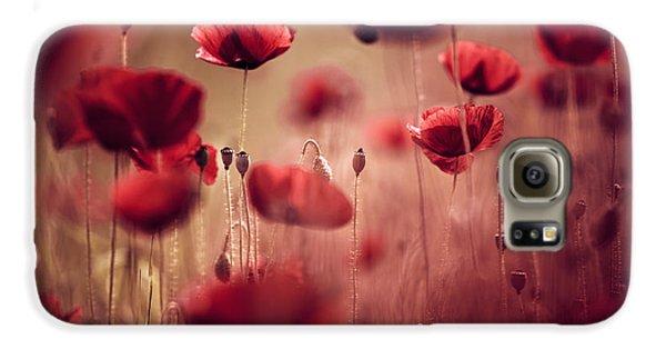 Summer Poppy Galaxy S6 Case by Nailia Schwarz