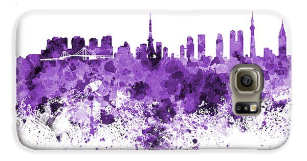 Tokyo Skyline In Watercolor On White Background Galaxy S6 Case