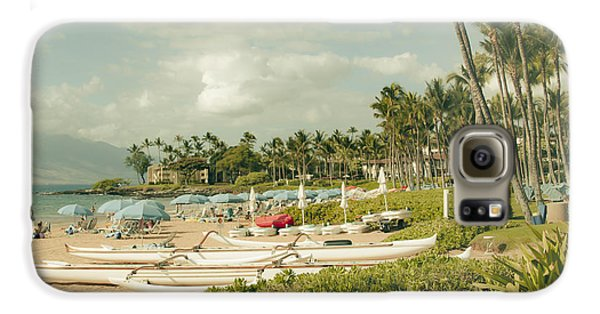 Wailea Beach Maui Hawaii Galaxy S6 Case by Sharon Mau