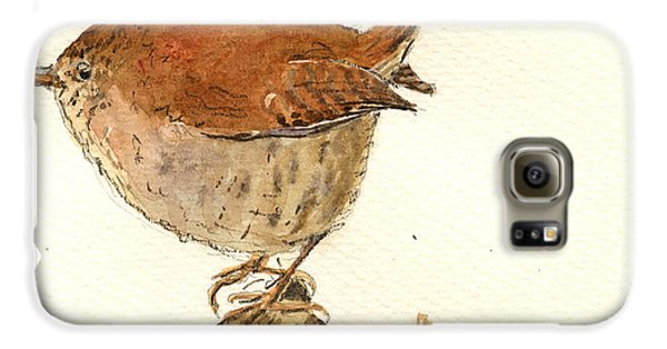 Wren Bird Galaxy S6 Case by Juan  Bosco