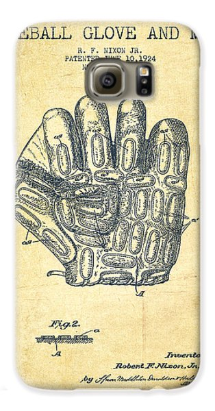 Baseball Glove Patent Drawing From 1924 Galaxy S6 Case